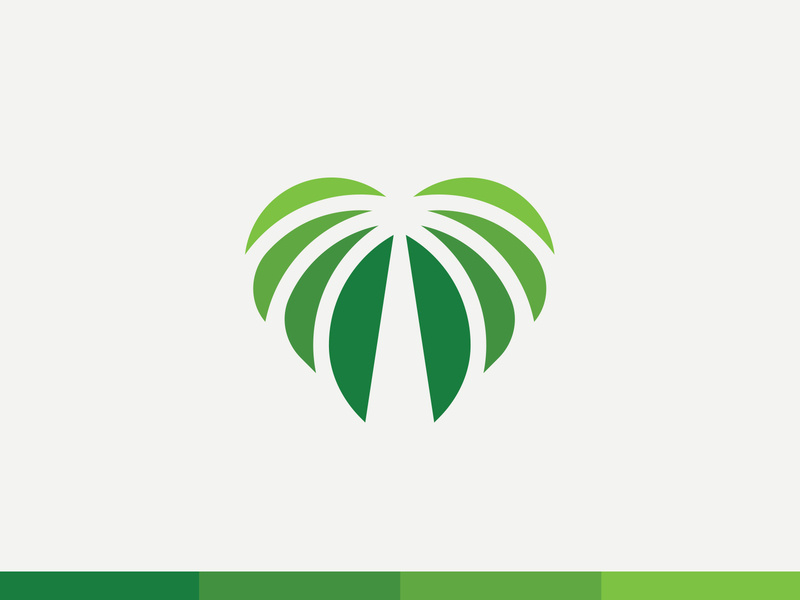 Heart of Palms Logo mark by Andrew Wiseman on Dribbble.