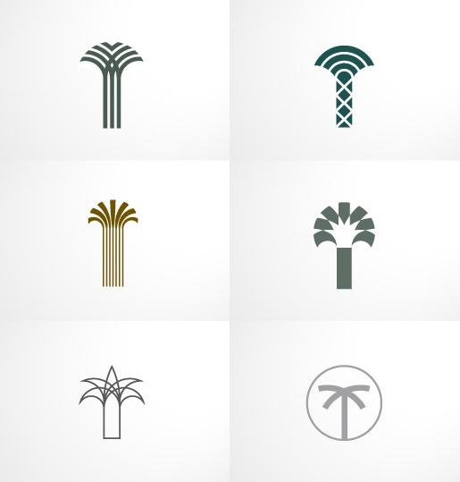 Palm Equity identity by Javier Romero, via Behance.