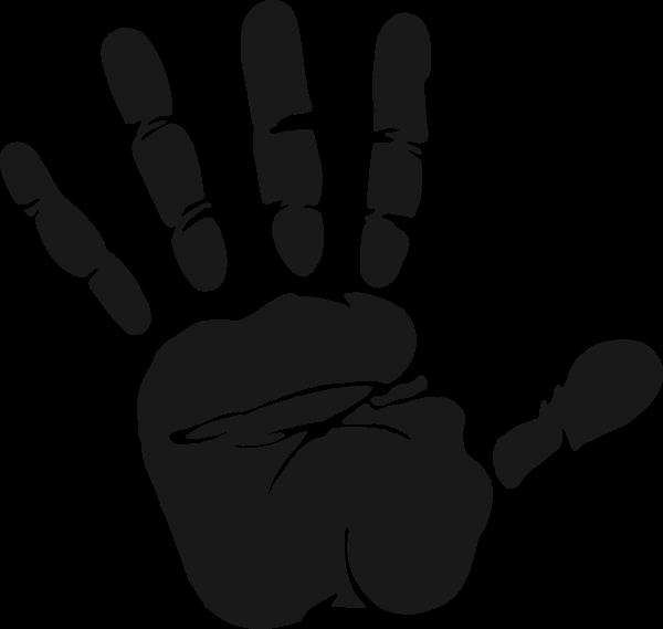 Handprint clipart palm print, Handprint palm print.