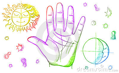 Palm reading clipart #10