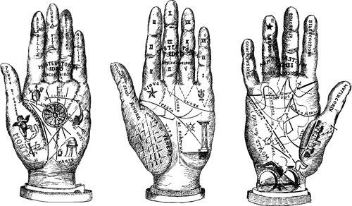 Palm reading hands png clip art Digital stamp Image Download.