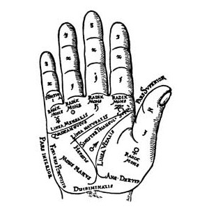 Palm reading clipart #9