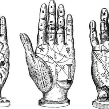 Palm reading clipart #8