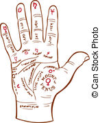 Palm reading clipart #17