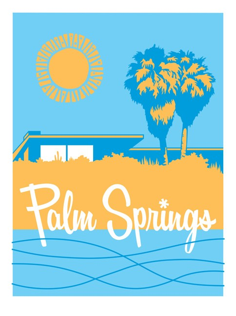 Palm springs clipart.