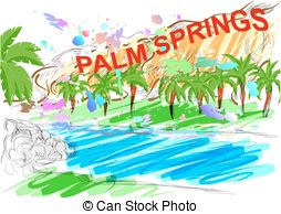 Palm springs clipart #17