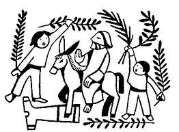 palm sunday black and white clipart.