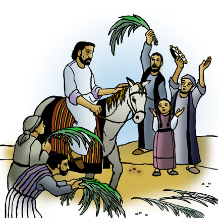 Icon4 Passion Palm Sunday 02 (Projection) (Clip Art).