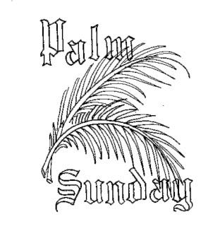 Beautiful palm sunday coloring pages and clip art pictures 2.