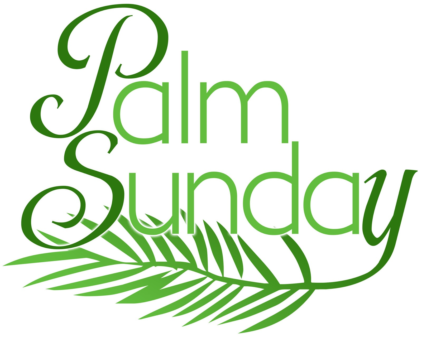 Christian Clipart For Palm Sunday.