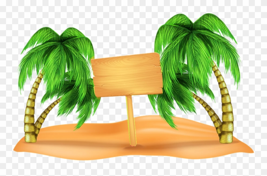 Clip Art Coconut On The Picture Material.
