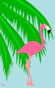 Free Flamingo Clip Art.