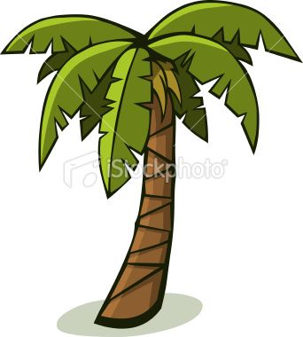 Cartoon Palm Tree Royalty Free Stock Vector Art Illustration.