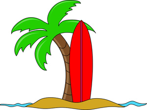 Palm Tree Beach Clipart.