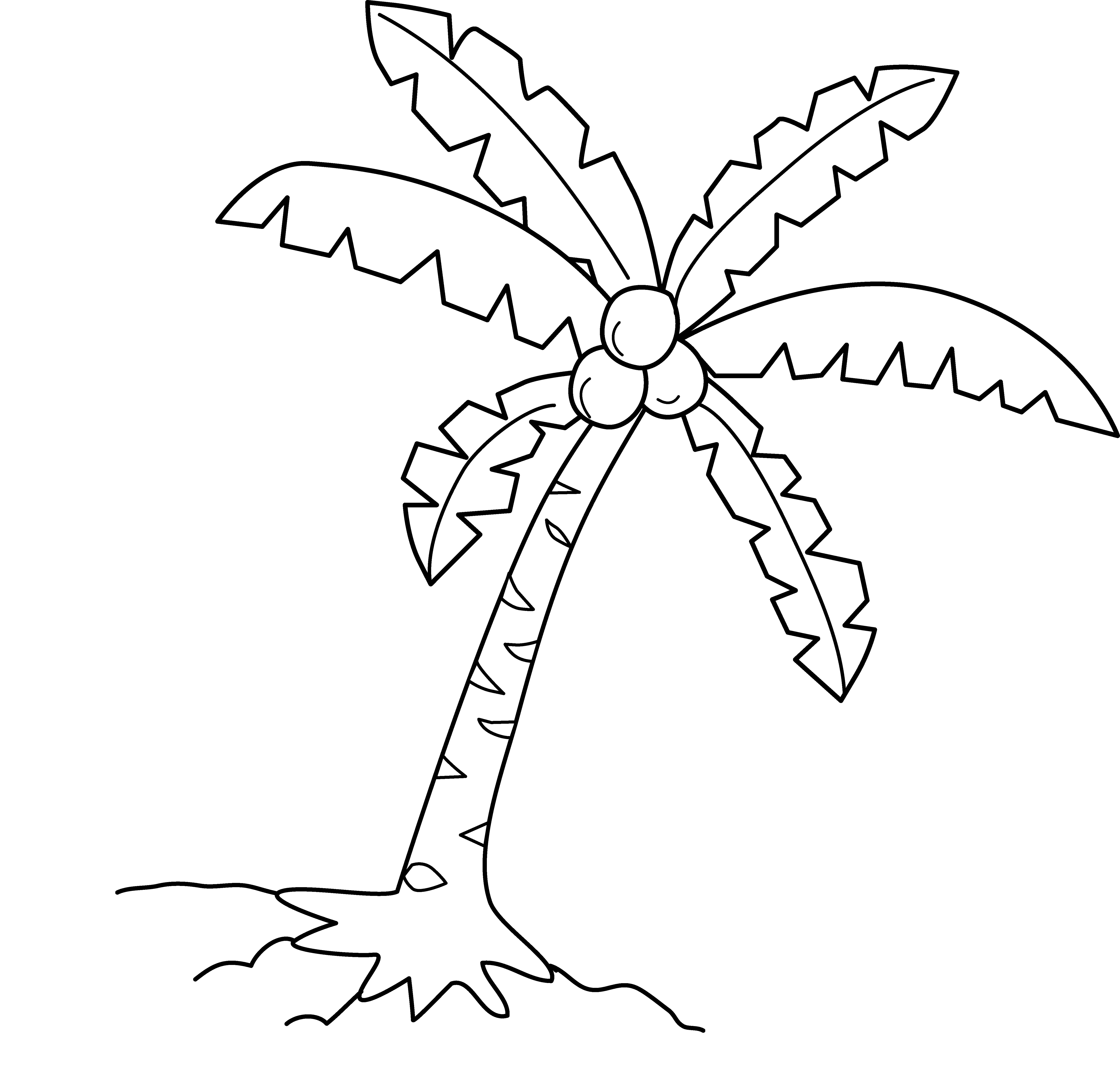 Free Palm Trees Clipart Black And White, Download Free Clip.