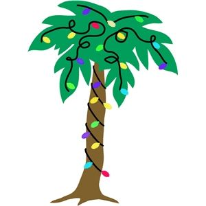 Silhouette Design Store: christmas palm tree.