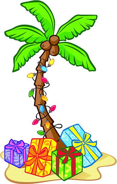 Christmas Palm Tree Clipart.