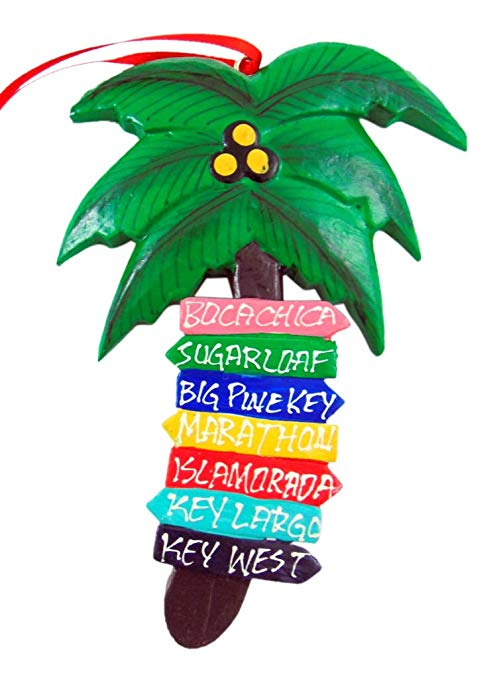 Westman Works Florida Keys Palm Tree Christmas Ornament Decoration with  Hand Painted.