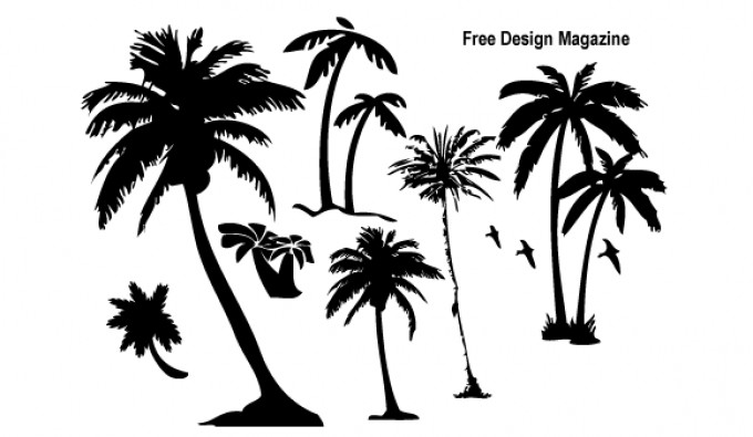 Palm Trees Vectors.
