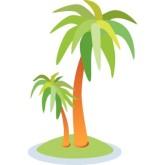 Palm tree border clip art.