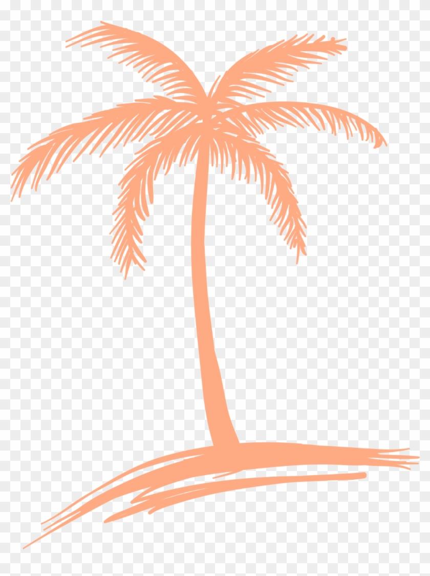 Peach Palm Tree Logo.