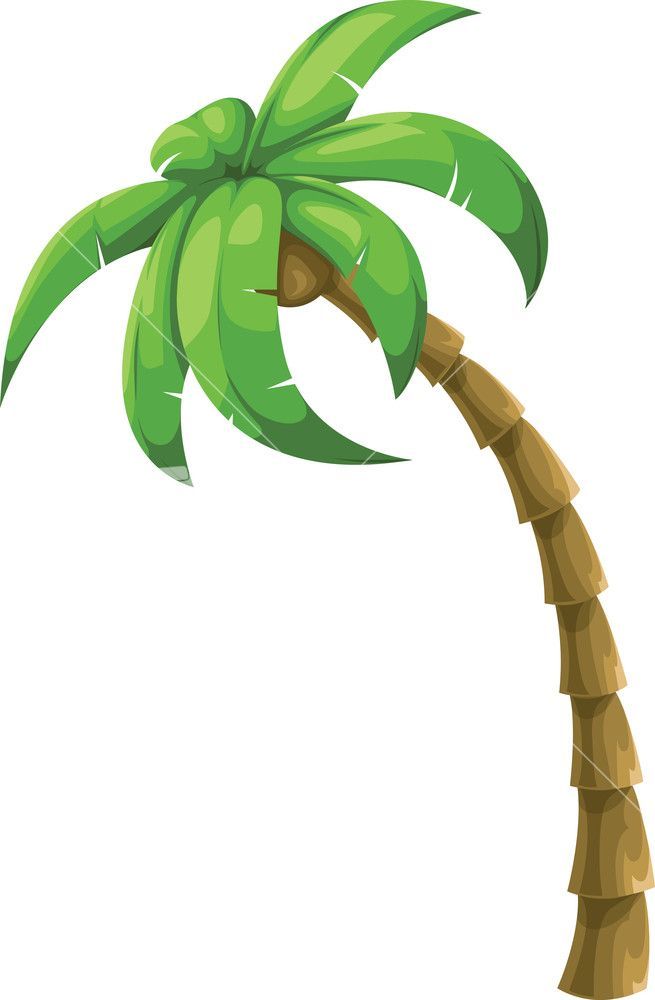 Colorful Vector Palm Tree Stock Image in 2019.