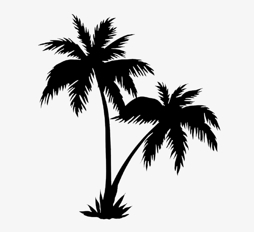Palm Trees Png Black.