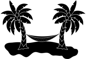 Palm Tree Hammock Clipart.