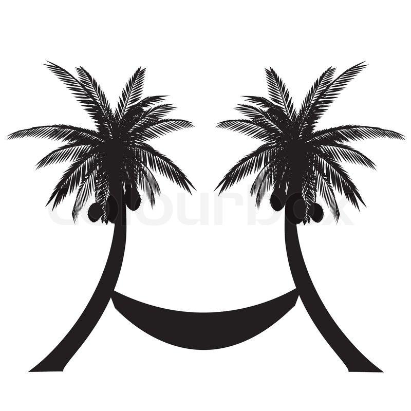 Palm Tree And Hammock Clipart.