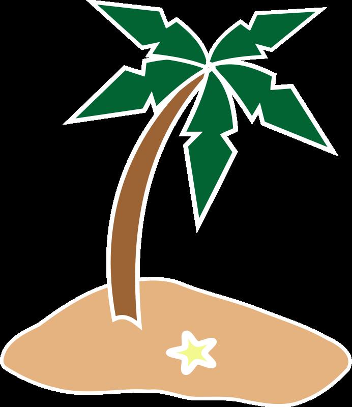 Palm Tree Island Clip Art Free free image.