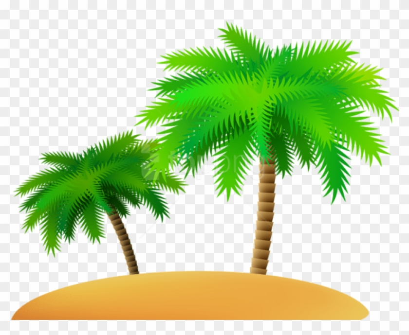 Free Png Download Palms And Sand Island Png Images.