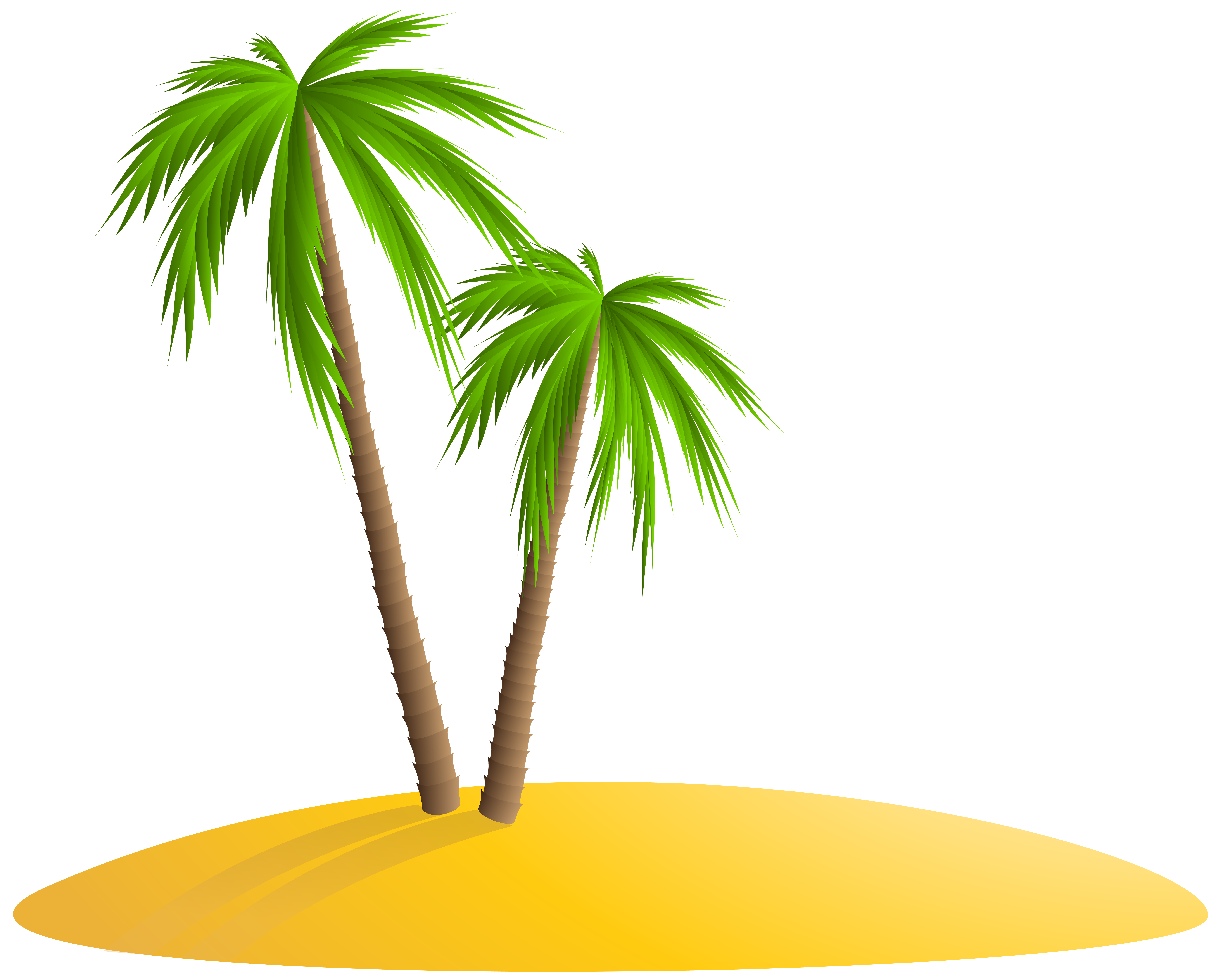 Palm Island PNG Clip Art Image.
