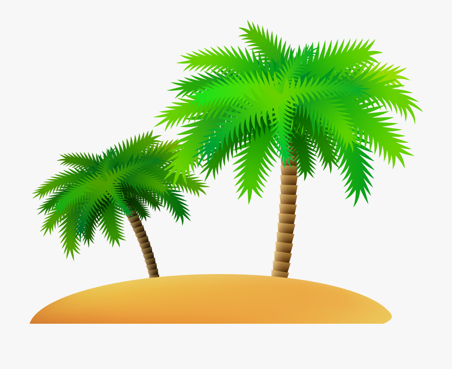 Palms And Island Png Clip Art Image #384244.
