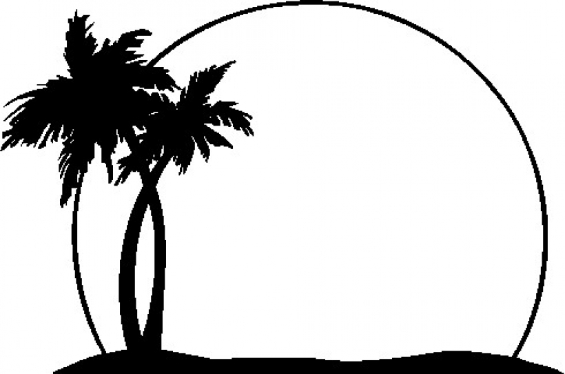 3068 Palm Tree free clipart.