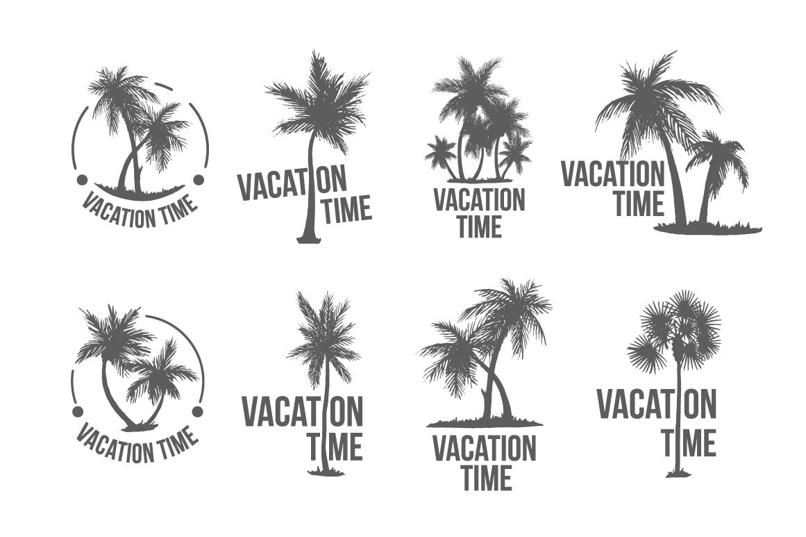 8 Tropical Palm logo illustration by AliceNoir on.