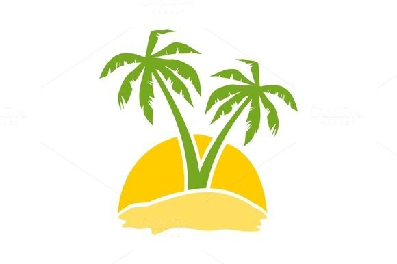 Yellow Palm Tree Logo.