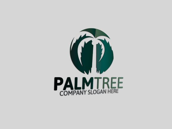 Palm Tree Logo by Josuf Media on Creative Market.