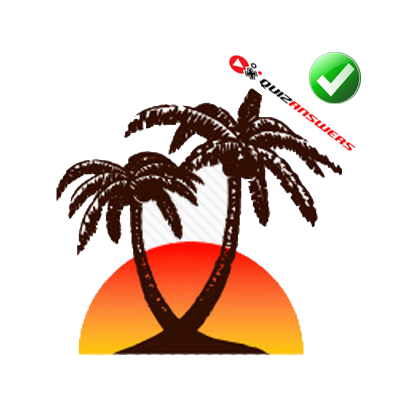 Palm Tree Sunset Logo Name.