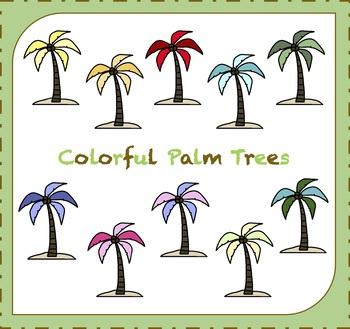 Palm Tree Clipart / Trees Clipart / Beach Clipart / Tropics Clipart.
