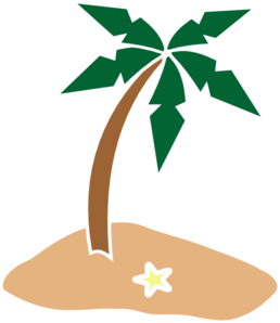 Palm Tree On Island Clip Art at Clker.com.