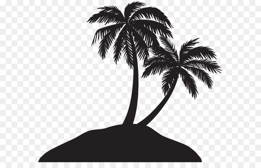 Free Palm Tree Island Silhouette, Download Free Clip Art.