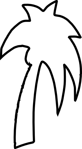 Palm Tree Outline Clip Art at Clker.com.
