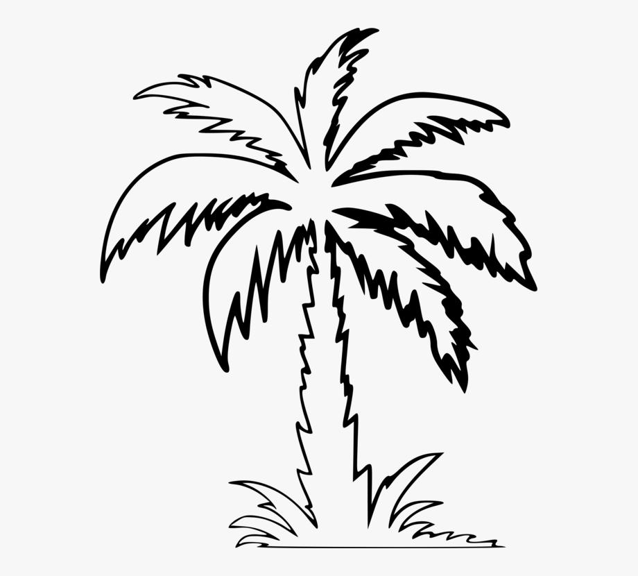 Palm Tree Clip Art Outline.