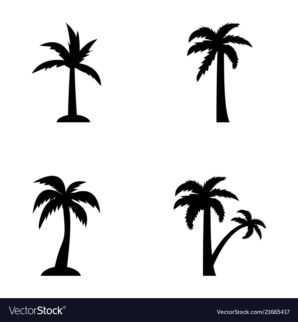 Tropical trees outline.