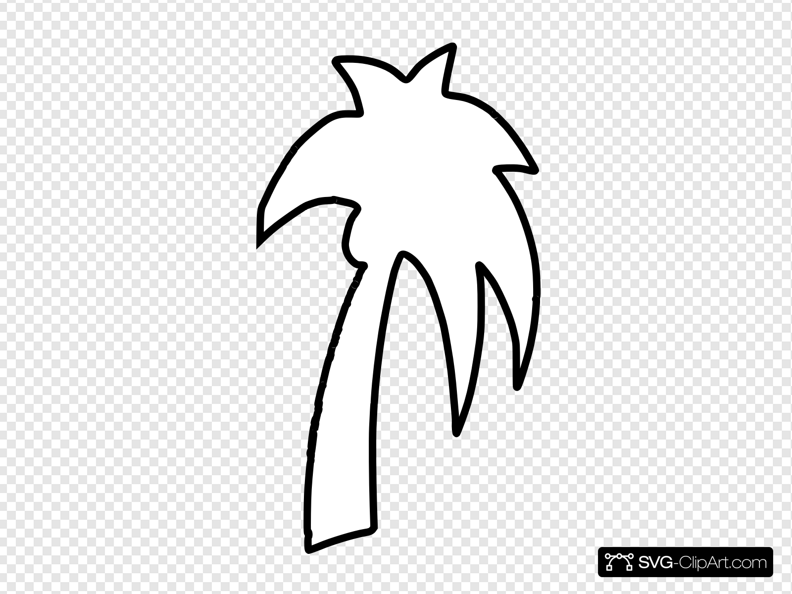 Palm Tree Outline Clip art, Icon and SVG.