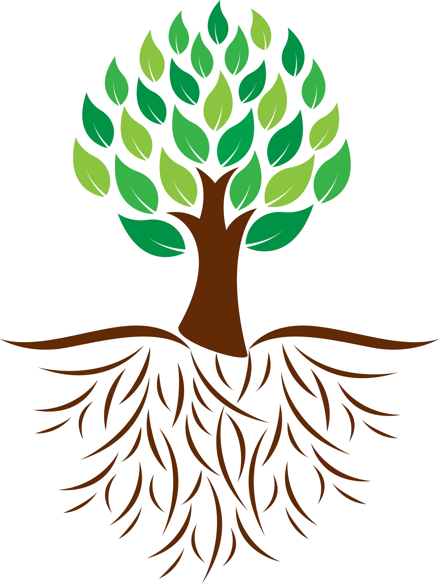 Free Tree With Roots Clipart.