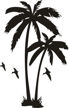 Palm Tree #Silhouettes illustration vector download graphics.