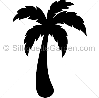 Palm tree silhouette clip art. Download free versions of the image.