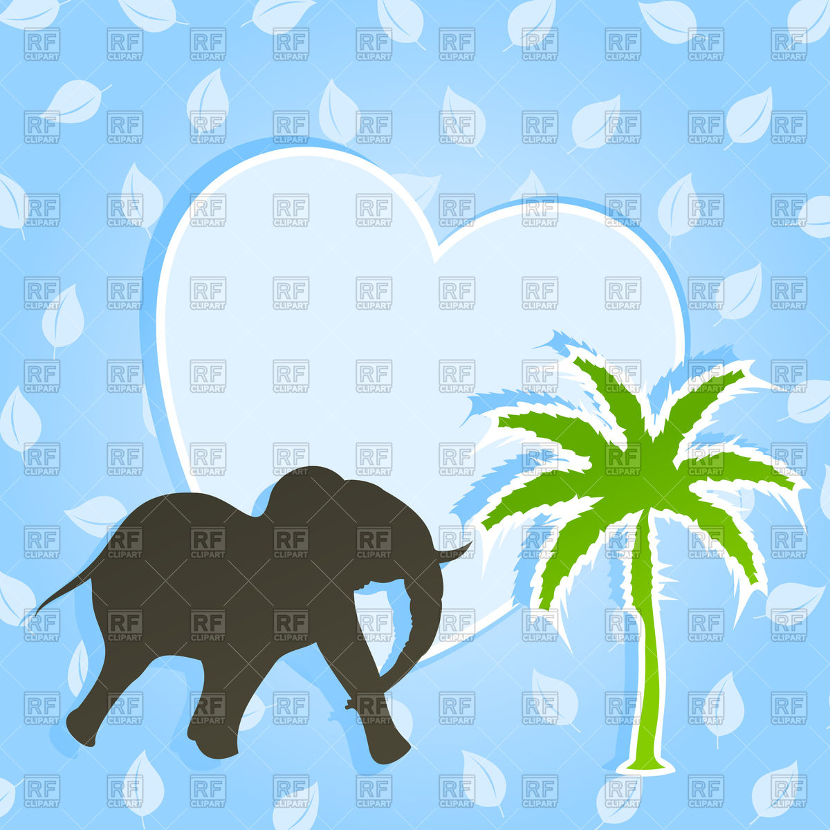 Palm Tree Shaking Clipart.