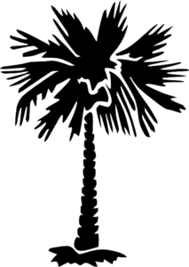 Palm Tree Clip Art Silhouette.